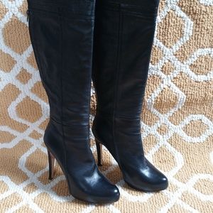 Charles David Vera Cuoio Leather Knee Boots Sz 9.5